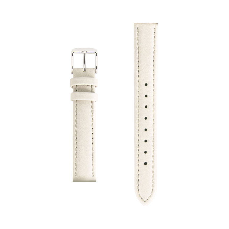 Cream Italian Leather Small Watch Strap