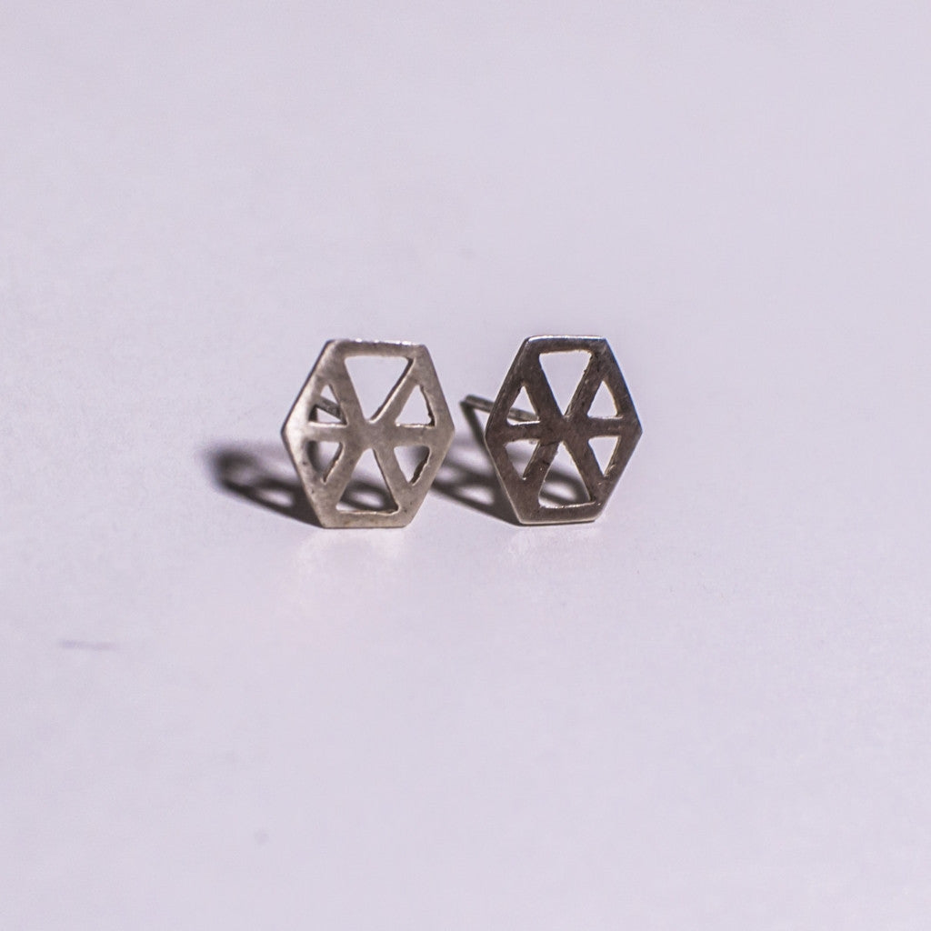 Six Triangles Stud Earrings