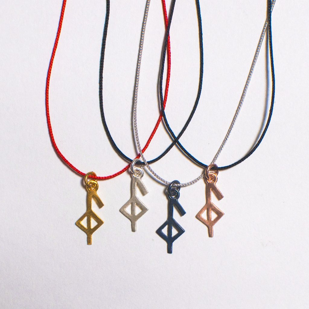 Bind Runic Good Health Symbol Cord Necklace