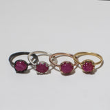 Rough Ruby Rings