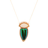Green Tiger Beetle Necklace