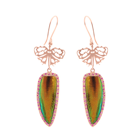 Red Tiger Beetle Earrings
