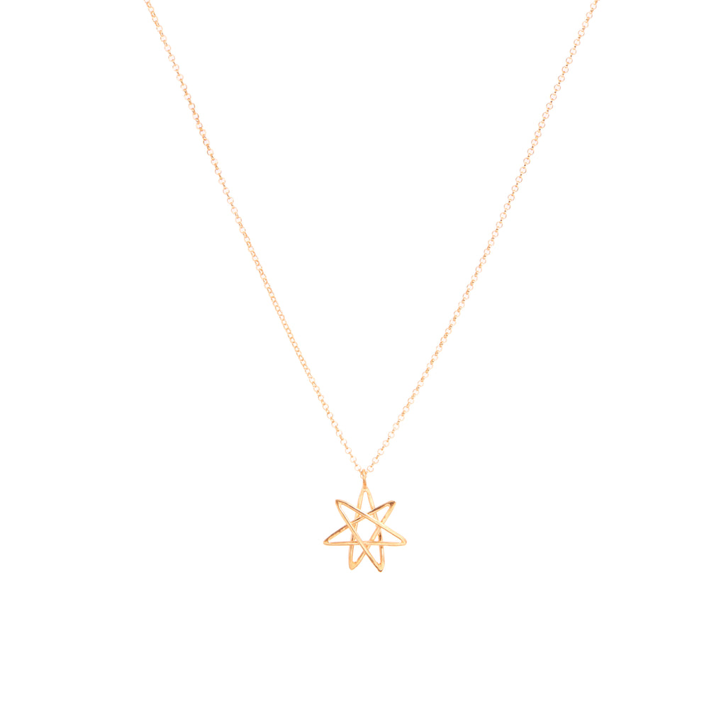 Heptagram necklace