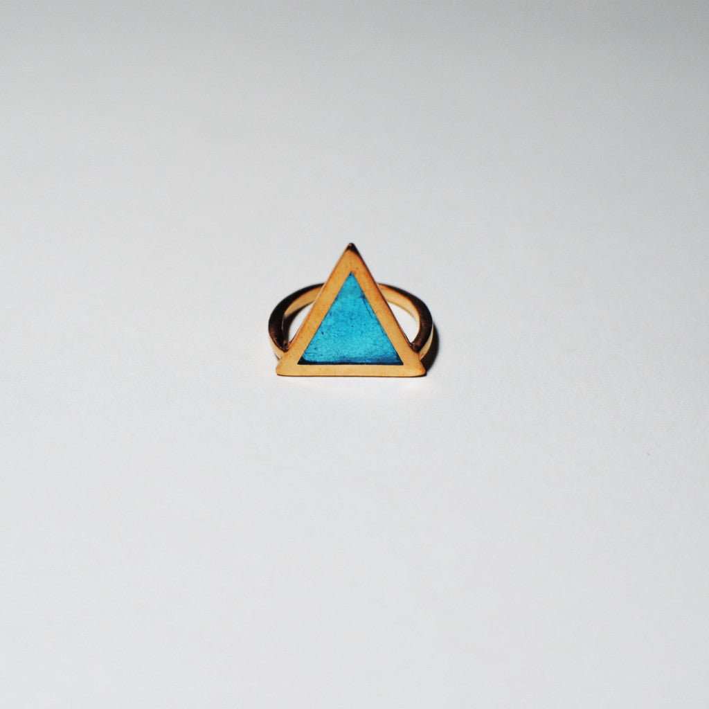 Triangle big with enamel