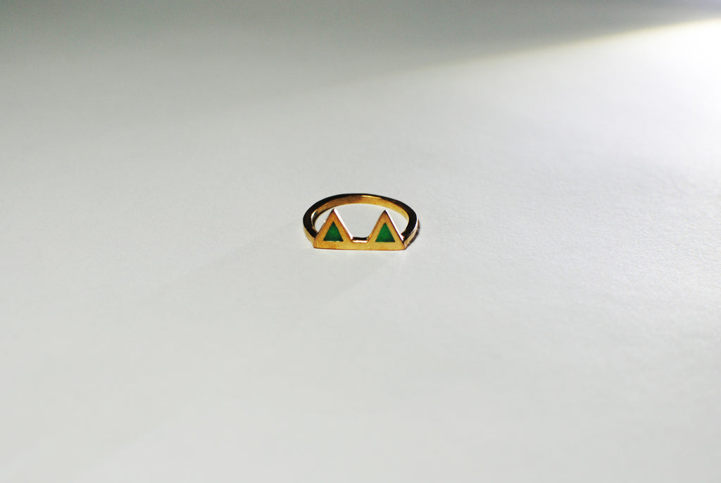 Double Triangle Enamel Rings