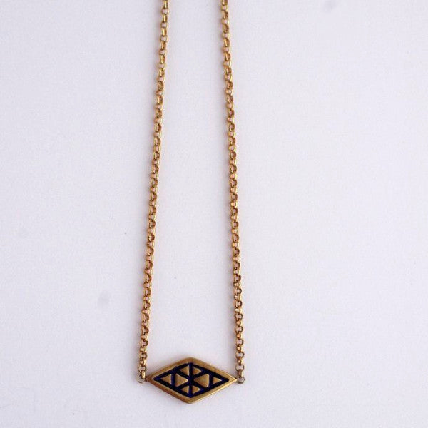 Logo Enamel Necklace 2