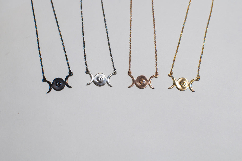products sheila fajl moon triple necklace