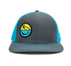Smiley Hat (Charcoal/Blue)