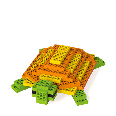 Tim Turtle with 50 blocks