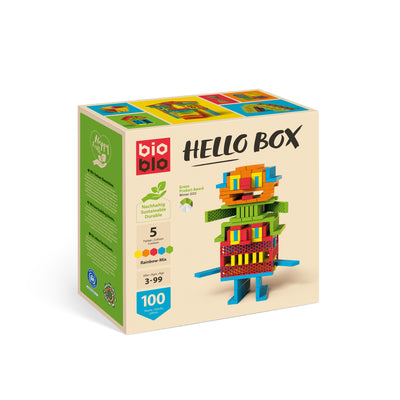 "Hello Box ""Rainbow-Mix"" con 100 piezas"