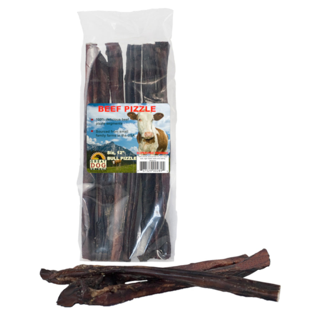Beef Pizzle (Bully Sticks) 6, 12 Inch Sticks - Sourced and Made in USA