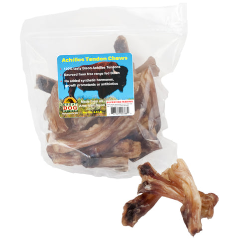 GREAT DOG Bison Achilles Tendon Chews 1.5 LB Bag (Sourced & Made in USA)