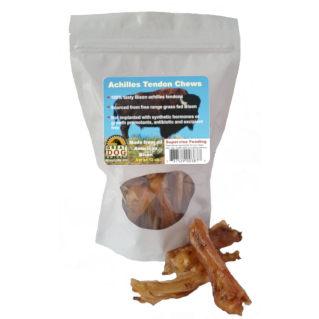 Bison Tendon Chews 3/4 LB Bag - Sourced and Made in USA