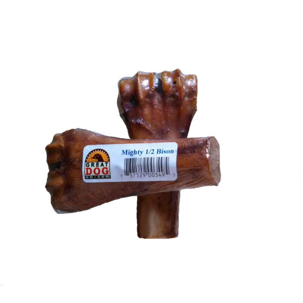 GREAT DOG Mighty Half Bison Bone - Sourced and Made in USA