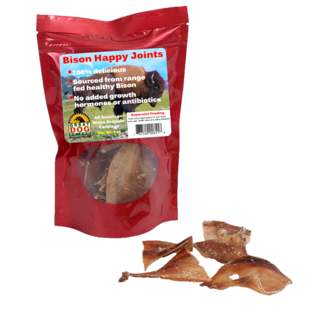GREAT DOG Bison Happy Joints 5.0 oz Bag (Sourced & Made in USA)