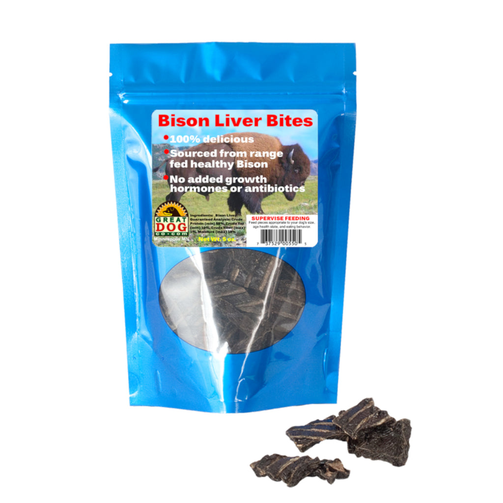 Bison Liver Bites 5.0 oz. Bag - Sourced and Made in USA