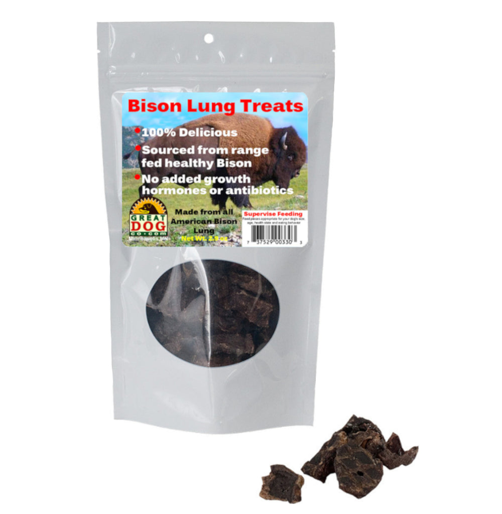 Bison Lung Treats - Sourced and Made in USA
