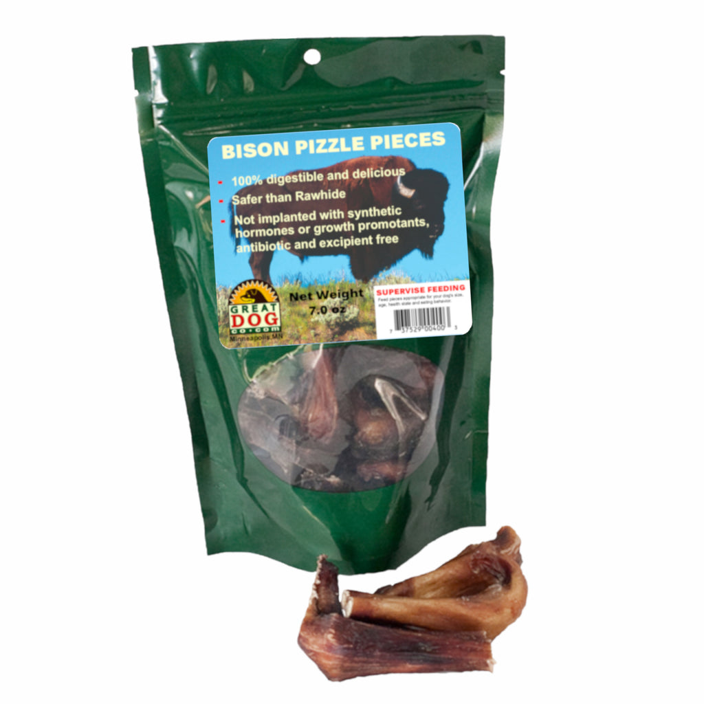 Bison Bully Stick Pieces - 7 oz Bag - Sourced and Made in USA