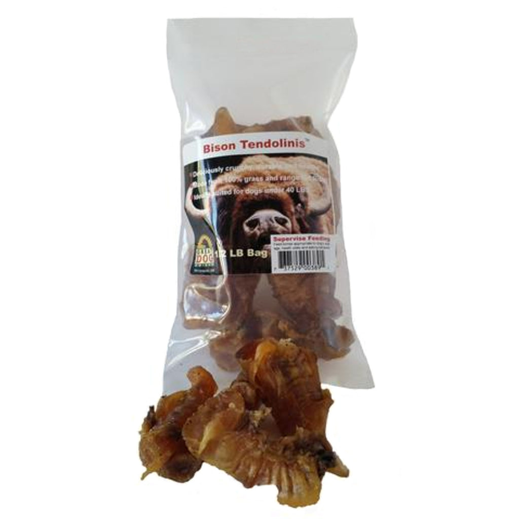 Bison Tendons for Small Dogs - 1/2 LB Bag - Sourced and Made in USA
