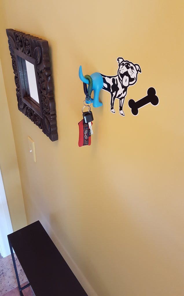 Vinyl Dog Wall Decal and Tail Hook