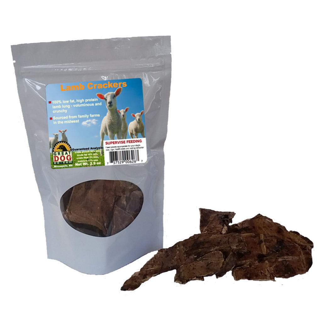GREAT DOG Lamb Crackers (Sourced & Made in USA)