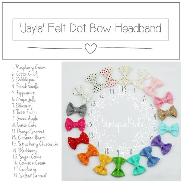 'Sweet' Felt Dot Bow // Cookies n Cream