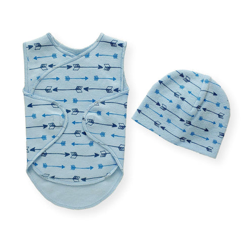 Preemie Wrap Set // Blue Arrows