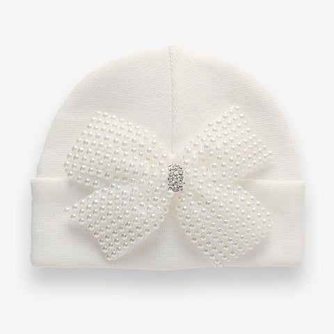 'Little Princess' Hospital Hat // Pearl Bow