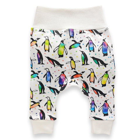 Harem Pants // Rainbow Penguins
