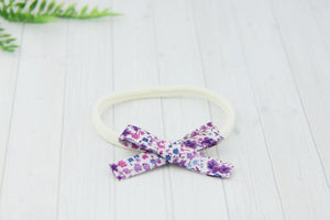 'Aisha' Hand-Tied Cotton Print Bow // Little Phoebe-liberty headband-UniqueKidz