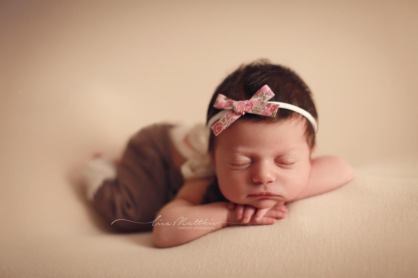 'Aisha' Hand-Tied Cotton Print Bow // Tatum Pink-liberty headband-UniqueKidz