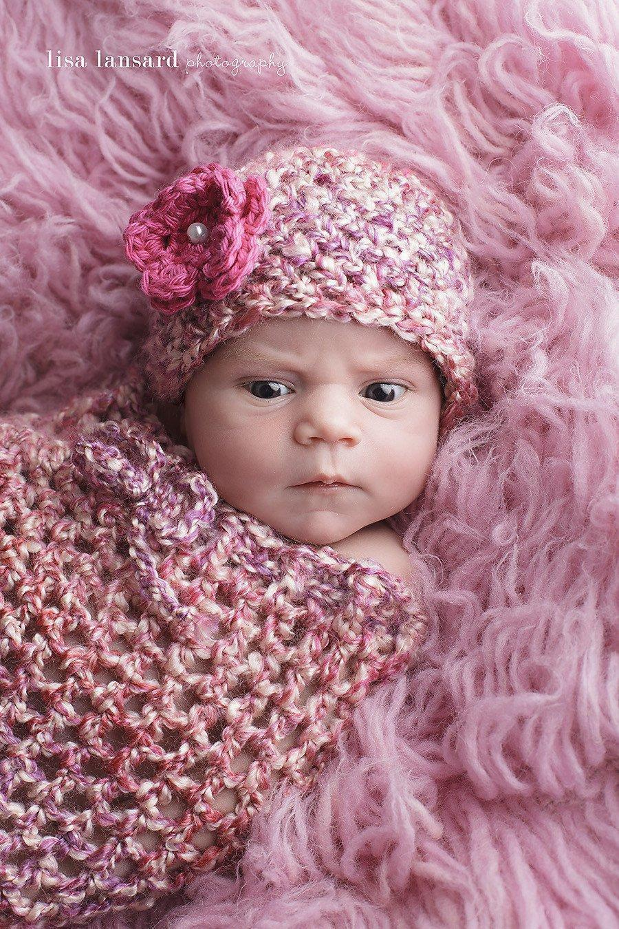 'Blossom' Crochet Hat // Cherry Blossom-Flower Crochet Hats-UniqueKidz