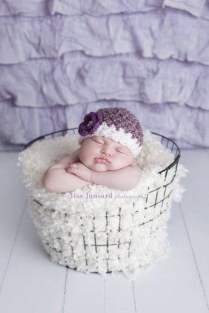 'Blossom' Crochet Hat // Mulberry-Flower Crochet Hats-UniqueKidz