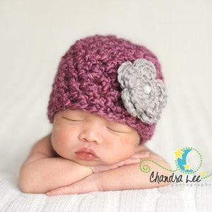 'Blossom' Crochet Hat // Sugar Plum Fairy-Flower Crochet Hats-UniqueKidz