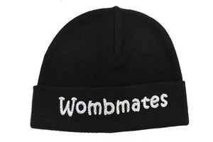 Embroidered Hat Black // Wombmates-Embroidered Hats-UniqueKidz