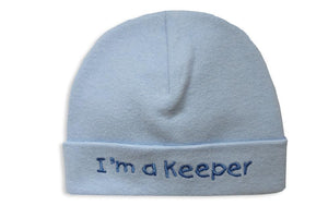 Embroidered Hat Blue // I'm a Keeper-Embroidered Hats-UniqueKidz