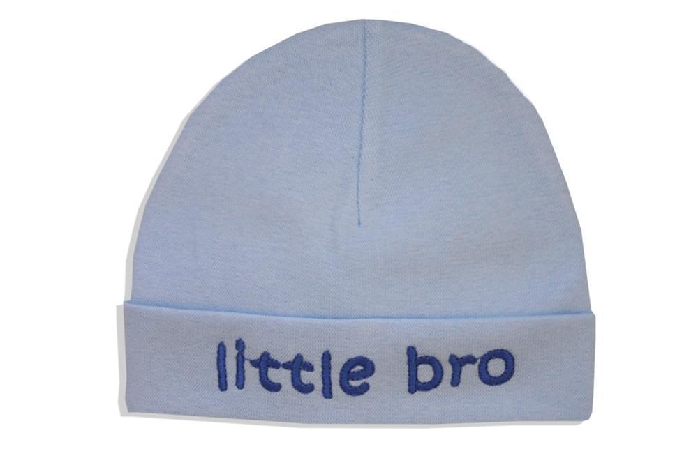 Embroidered Hat Blue // Little Bro-Embroidered Hats-UniqueKidz