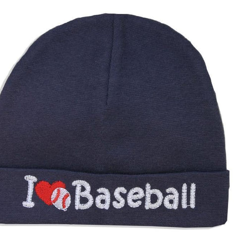 Embroidered Hat Navy // I Love Baseball