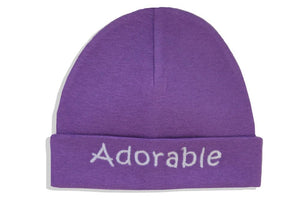 Embroidered Hat Purple // Adorable-Embroidered Hats-UniqueKidz
