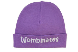 Embroidered Hat Purple // Wombmates-Embroidered Hats-UniqueKidz