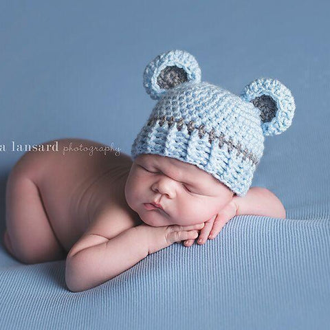 'Baby Bear' Crochet Hat // Boy Blue