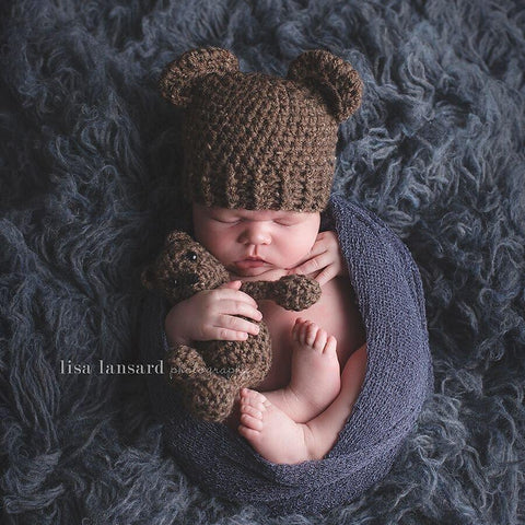 'Baby Bear' Crochet Hat // Brownie