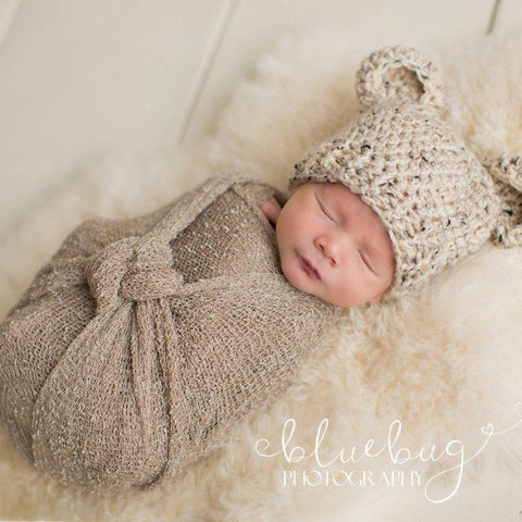 'Baby Bear' Crochet Hat // Oatmeal