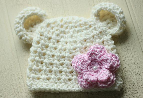 'Little Bear' Crochet Hat // Rosie-Crochet Hats-UniqueKidz