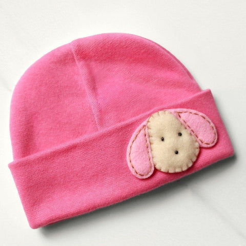 'Little Feltie' Fuchsia Hospital Hat // Pink Puppy
