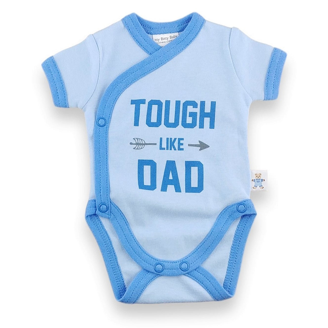 'Onesie' Blue // Tough like Dad-onesies-UniqueKidz