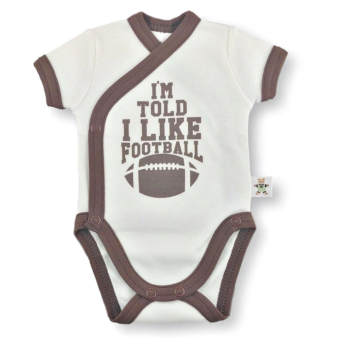 'Onesie' Cream // I'm told I like Football-onesies-UniqueKidz