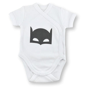 'Onesie' White // Black Knight-onesies-UniqueKidz