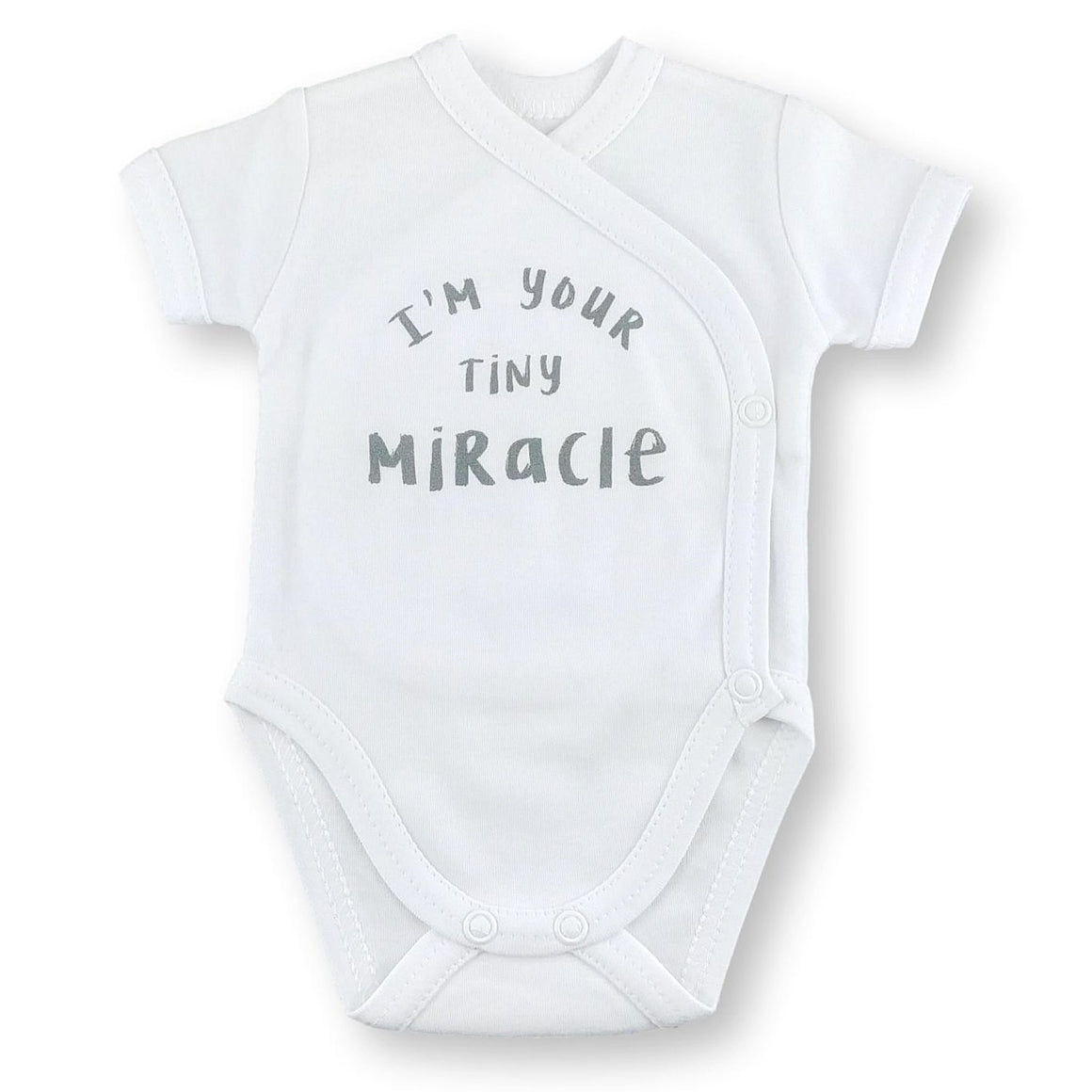 'Onesie' White // Tiny Miracle-onesies-UniqueKidz