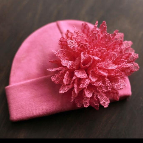 'Posh Flower' Hospital Hat // Fuchsia